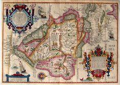 1596 - Mapa de Suramérica de Jan Huygen van Linschoten