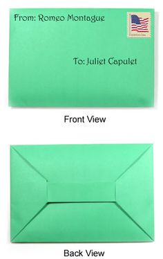 traditional origami envelope