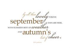 We love September <3