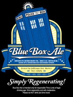 I don't always drink ale, but if I did it would be Blue Box Ale.