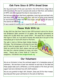 Newsletter 1, page 5 More information here on the range of things they all get involved in.  The lead is always given by the farm's manager, Stuart Toulson - someone whose dynamism, dedication and engaging personality have been key factors in shaping the farm over the last 20 years or so.