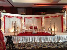 Open Crystal Mandap by, www.aayojan.com of Atlanta, GA 678-764-5453 Indian Wedding Decorations, Wedding Reception Decorations, Table Decorations, Wedding Ideas, Mandap Design, South Asian Wedding, Wedding Vendors, Weddings, Valance Curtains