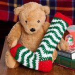 Holiday Ripple Stocking Free Crochet Pattern