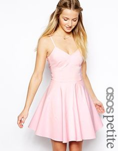 ASOS PETITE Exclusive Bardot Strappy Bengaline Skater Dress summer dress sundress spring cute
