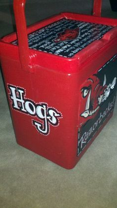 $70 hogs cooler painting with all sides done