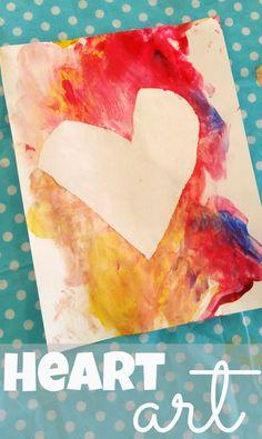 Tape Resist Heart Art - Munchkins and Moms K Crafts, Fun Crafts For Kids, Art For Kids, Kid Art, Kids Fun, Big Kids, Valentines Day Activities, Valentines For Kids, Valentine Day Crafts