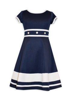 Bonnie Jean  Short Sleeve Nautical Dress Girls 7-16