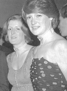 Diana, Princess of Wales's sisters, Lady Jane Fellowes (now Baroness Fellowes) and Lady Sarah McCorquodale are seen in this undated archival photograph.
