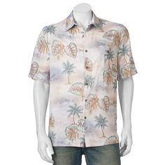 f860f7c90c Men's Batik Bay Tropical Casual Button-Down Shirt, Size: Medium, Natural  Tropical