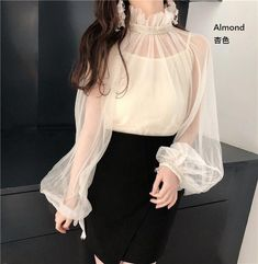 Look Fashion, Korean Fashion, Girl Fashion, Fashion Dresses, Womens Fashion, Spring Fashion, Blouse Styles, Blouse Designs, Classy Outfits