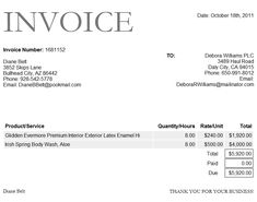 hotel bill invoice template in word format | project management, Invoice templates