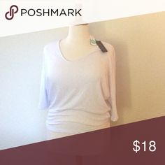 💜 Simple white knit 3/4 sleeve top This is a Bowie three-quarter length sleeve Domain knit top. It is brand-new with tags from stitch fix. It's made of 62% polyester, 32% rayon, and 6% spandex for a nice soft touch with a little bit of stretch. Laila Jayde Tops Tees - Short Sleeve