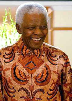 Nelson Mandela, an inspiration to the world. I was so fortunate to see & hear him speak when I lived in London.  What a gift!