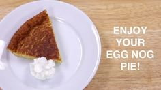 Creamy, flaky Egg Nog Pie is a holiday twist on a traditional custard ...