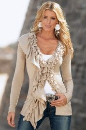 ruffled sweater love this look