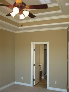 I like the paint color and the crown moulding