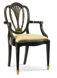 Shield Back Arm Chair