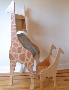 DIY Giraffe Drawing Desk and Chair for Kids