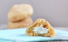 Cream Cheese Stuffed Cinnamon Sugar Pillow Cookies
