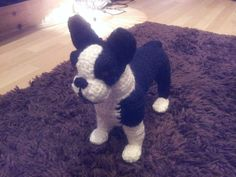 Cute little Boston terrier Pattern can be bought from https://www.etsy.com/listing/85294435/boston-terrier-crochet-pattern-digital  Her patterns are amazing!