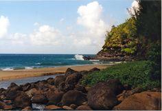 Beautiful beach in Kauai.