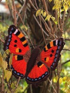 Haakpatroon Kleine Vos Vlinder, lees meer over het patroon op Haakinformatie