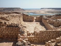 October 2010 - The ancient site of Sumhuram in the Khor Rori area of the Dhofar region near Salalah, Oman. The center of Frankinscense production between the 3rd century BC and 1st century AD. Spice caravans traveled from here through the Arabian desert and also by sea.