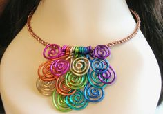 Colored wire necklace (found via swelldesigner), $35