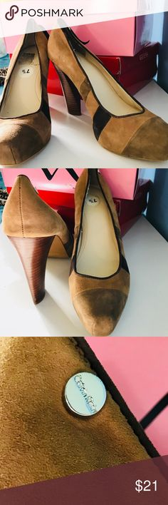 Suede brown pumps Suede brown pumps to make your outfit go from blah to wow.... Calvin Klein Shoes Heels
