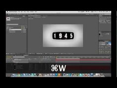Odometer After Effects Tutorial - YouTube