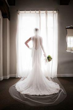 Silhouette Shot of Berta Bridal Wedding Dress | Photo: Lin & Jirsa | Full feature on the blog: http://aisleperfect.com/2015/12/elegant-los-angeles-wedding-vibiana-events-center.html #wedding #bride