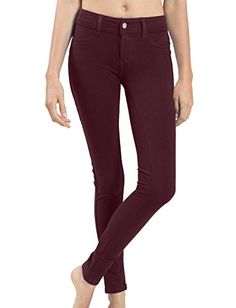 LE3NO Womens Color Skinny Ponte Pants with Stretch LE3NO http://smile.amazon.com/dp/B00NCCXT24/ref=cm_sw_r_pi_dp_giXoub0D4NAFS