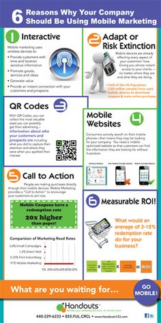 Why Your Company Should Be Using Mobile Marketing #Infographic #SMM #SocialMedia #Marketing