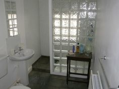 Tile floor continues into shower - use all the same tile