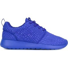 Nike Roshe One DMB Sneakers (£115) ❤ liked on Polyvore featuring shoes, sneakers, blue, round toe sneakers, flat sneakers, nike trainers, nike and lace up shoes