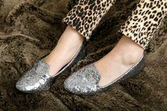 Vintage leopard-print jeans and Aldo glitter loafers!
