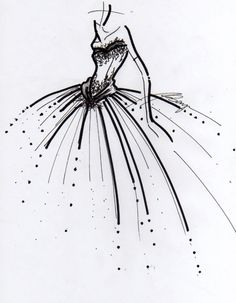 Design sketch. (love this kind of art, but only certain designers sketches)