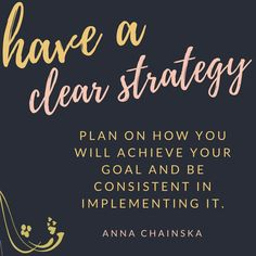 Are you clear on the strategy you will use on how to achieve your goals? As you know, I love doing Facebook live streams and it's part of my strategy. Is it in your strategy, too?r