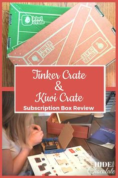 Tinker and Kiwi Crate Subscription Box Review PIN Homeschool Curriculum Reviews, Homeschool High School, Homeschool Kindergarten, Homeschooling Resources, Monthly Crates, Steam Learning, Kiwi Crate, Science Lessons, Teaching Science