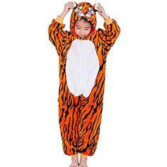 5cfdd93e74 Amenxi Kinder Unisex Mädchen Flanell Jungen Schlafanzug Cartoon Fleece  Loose Casual Einhorn Jumpsuit Overall Cosplay Tierkostüme