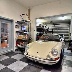 90 Garage Flooring Ideas For Men - Paint, Tiles And Epoxy Coatings ...