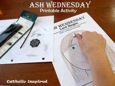 Ash Wednesday Printable Activity Page {Free} ~ Get ready for Lent! Catholic Lent, Catholic Religious Education, Catholic Crafts, Catholic Religion, Church Activities, Easter Activities, Ccd Activities, Teaching Religion, Ash Wednesday