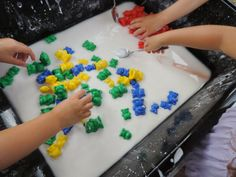 Going on a Goopy Bear Hunt..A fun sensory activity incorporating fine motor skills, cokour recognition, classification and counting. Mummy M...