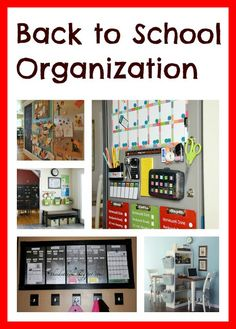 So many cute ideas to get organized for school.