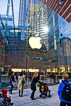 NYC. apple store at fifth ave. // by The weblicist of Manhattan
