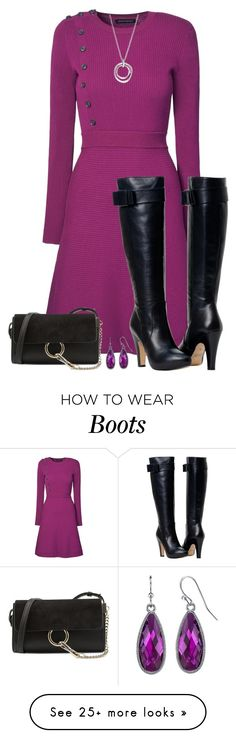 """""""Fuchsia Fun"""" by asigworth on Polyvore featuring Chloé, FOSSIL and 1928"""
