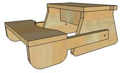 Folding Step Stool  Plans or Pattern for the Kids. Complete Video Plans