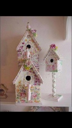 Adorable Shabby Chic Birdhouses