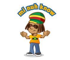 MI NUH KNOW iRIE iDRIN JAMAICAN PATWA LINE STICKER