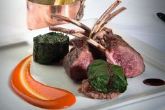 Lamb and Peppers from Saddle Peak Lodge some of the finest cuisine in Los Angeles